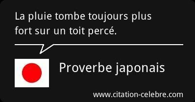 Pluie Proverbe Japonais